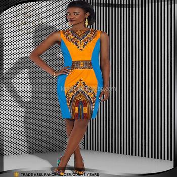mode Robe Dessins Africains Ethnique Pour À Motif de Imprimé Robe Courte Les Femmes Dashiki Imprimé uKc3TlF1J
