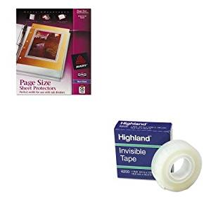 KITAVE74204MMM6200341296 - Value Kit - Avery Top-Load Poly Three-Hole Sheet Protectors (AVE74204) and Highland Invisible Permanent Mending Tape (MMM6200341296)