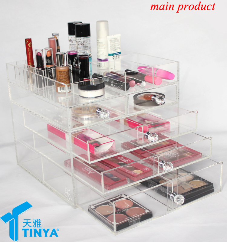 new acrylic clear drawer dividers for makeup huge cosmetic organizer with drawer