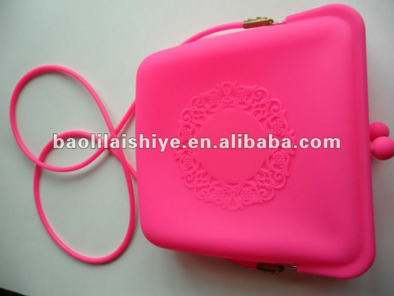 2012 Free packing Latest Fashion Silicone Ladies Handbag