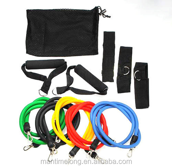 11pcs/set fitness weerstand band waterdicht fitness weerstand band latex weerstand banden