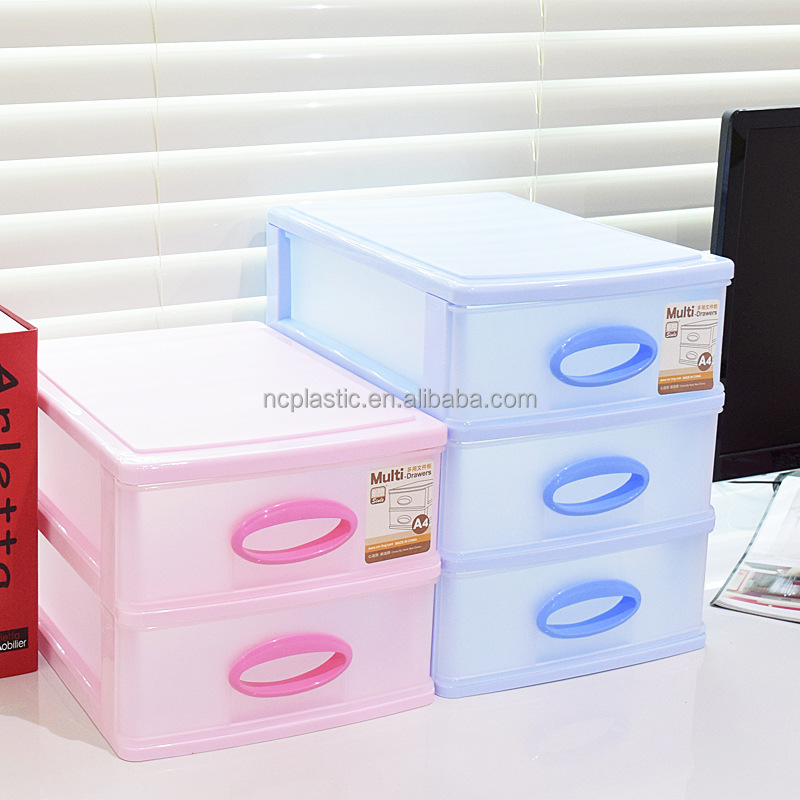Desk Storage 4 Drawer Mini Unit colored drawers pp