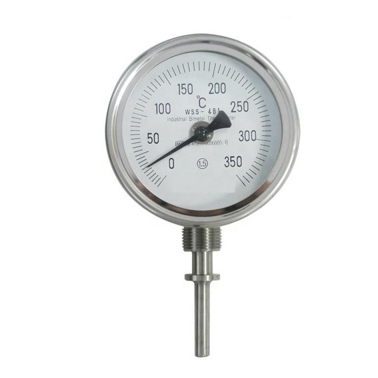 อุตสาหกรรม WSS อุณหภูมิโลหะหม้อไอน้ำท่อคู่ bimetal เครื่องวัดอุณหภูมิ