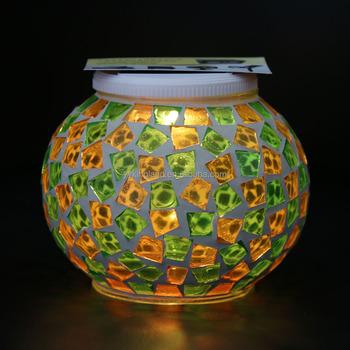 decorative solar lighting. Manufacture Price Mosaic Desk Light,party Decorative Solar Lantern, Led Jar Light, Lighting D