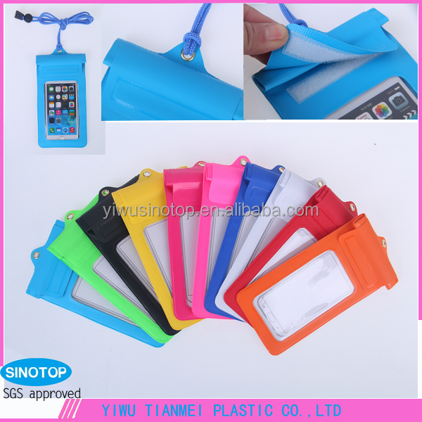 Transparent high quality Logo customized phone bags 500D PVC tarpaulin Phone Bag