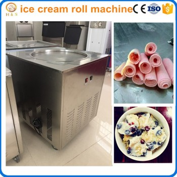 hot sale Single flat pan fried ice cream roll machine / ice cream frying machine