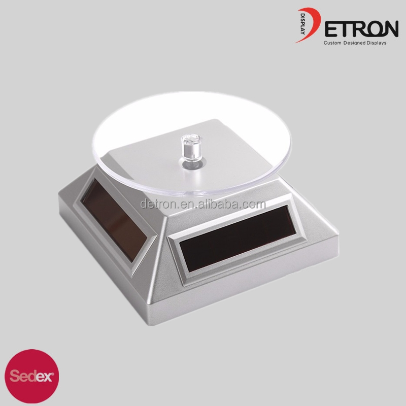 Acrylic solar rotating display stand, solar jewelry rotatable display stand