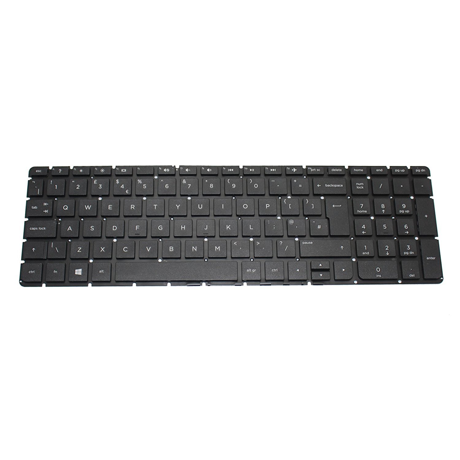 26fb6452138 Generic NEW Black QWERTY Laptop UK Keyboard NO Frame For HP 250 G4 255 G4  256