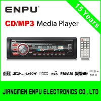 Single Din Fixed Panel Car MP3 CD DVD Player with USB SD AUX ISO RDS FM Bluetooth