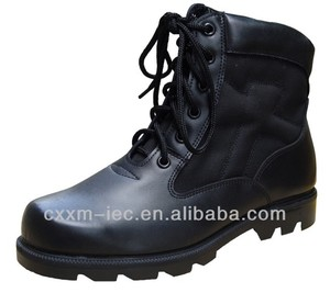 2016 High Quality Durable Black Leather Military Hunting Boots
