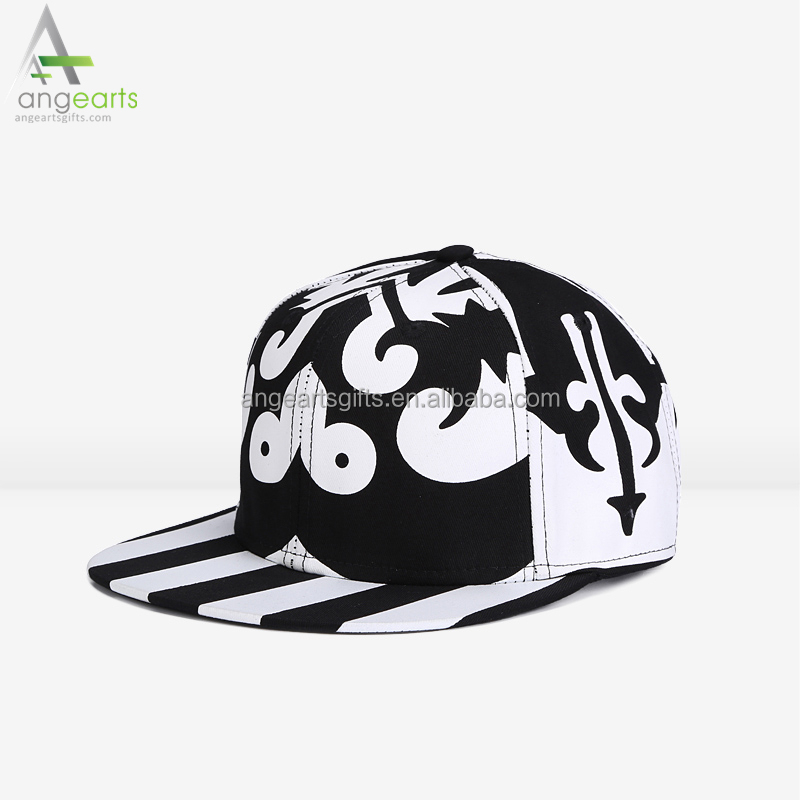 Wholesale fashion printing snapback hat custom hip hop cap and blank sprots cap