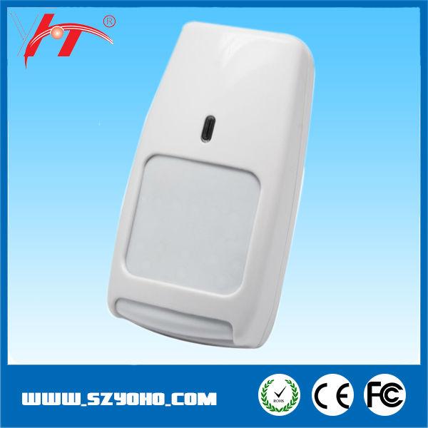 gran angular de doble detector pir montado en la pared doble vigas sensor de infrarrojos