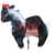 HJY outdoor playground the white horse prince mechanical walking large toy horse for sale