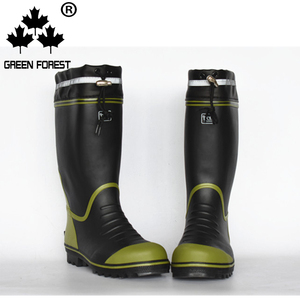 Mens Rain Boots Waterproof Drawstring Slip Resistant Snow Mud Work Shoes
