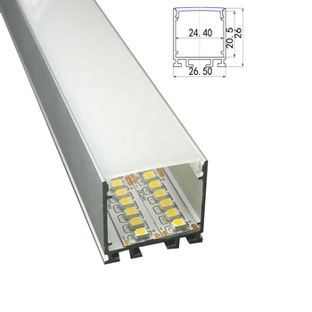 Ceiling Mounted Led Aluminum profile for double row led strip 5630/5050/3528/2835, led aluminum extrusion track without flange
