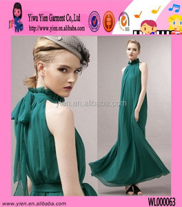 Simple And Elegant Green Evening Dress New Chiffon Green Evening Dress