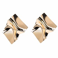Ladies Big Gold Stud Trendy Earrings For Women Earrings Gold N800015