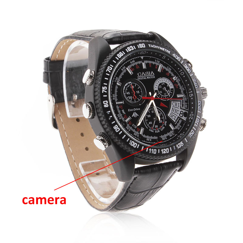 Fashion watch mini dv dvr HD 1080P Waterproof leather Watch DVR spy camera digital hidden Camera