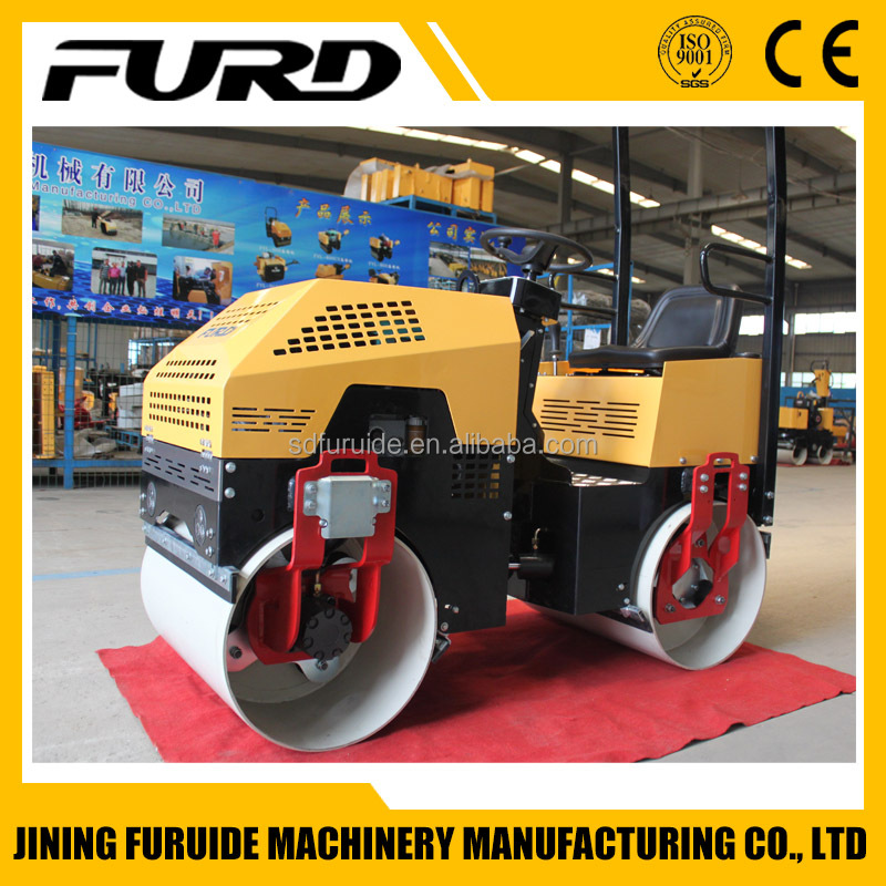 Mini Road Roller Pictures FYL-880 Double Drum Vibration Roller