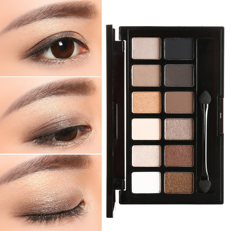 12 colors eye shadow palelle warm color eyeshadow palette
