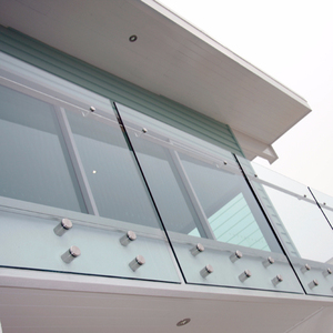 laminated glass railing/Balcony frameless glass balustrade