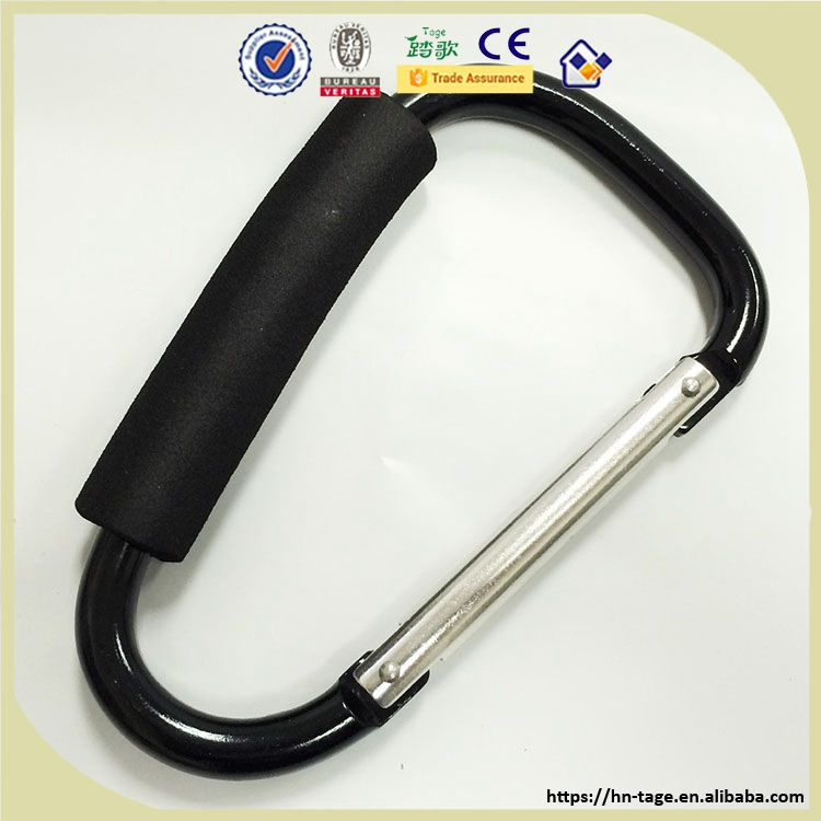 China Large Big Size Carabiner/large carabiner hook with foam