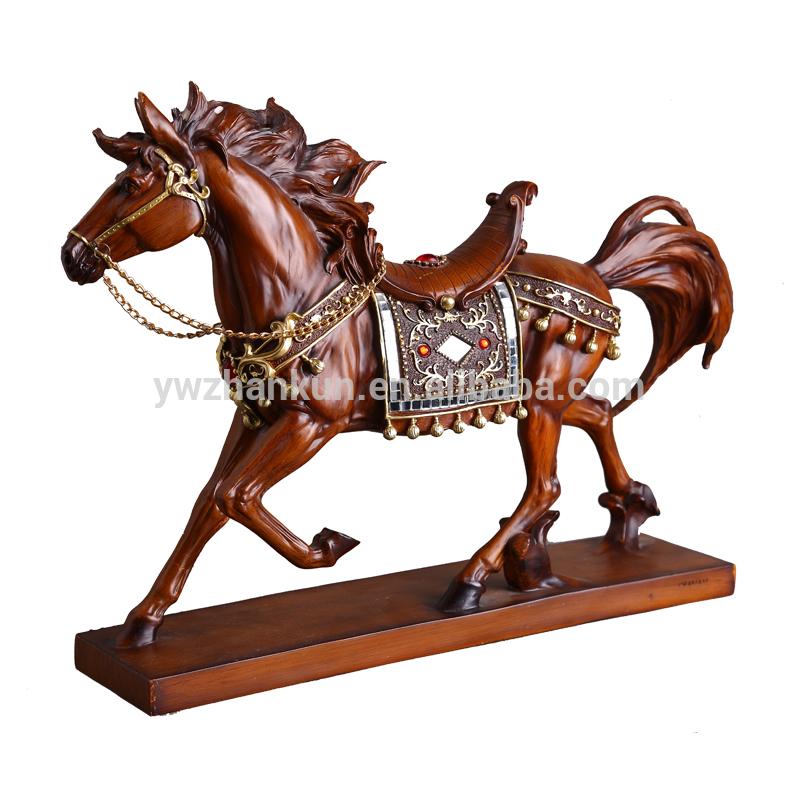 Творческий лошадь украшения смолы ремесло семья лошадь ремесла
