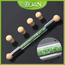 Double Sides Changeable Sponge Nail Drawing Pen Sponge Nail Art Brush Set