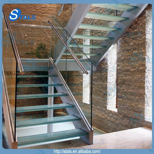 Stals Modern Steel Glass Stair Railing Spiral Staircase