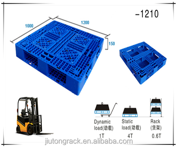 industrial using plastic tray pallet for storage