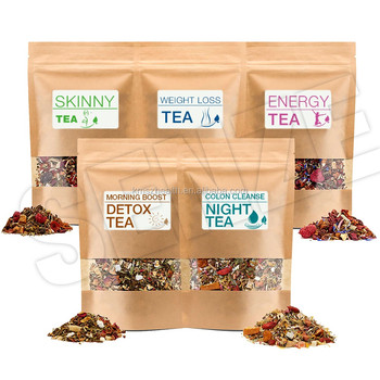Customized Brand Detox 14 Day Weight Loss Detox Tea Series with Assorted Flavors