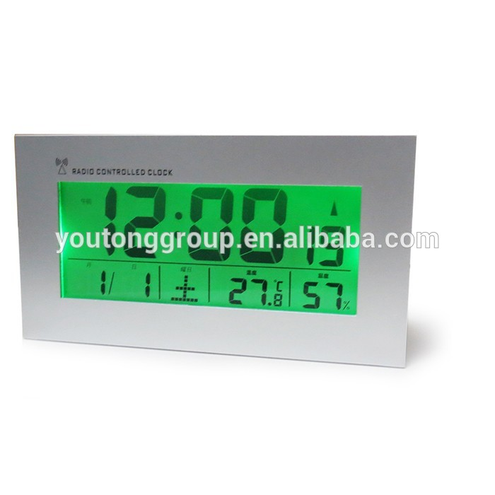 Multifunction digital Clock,JJY Clock,LED Desk Clock With Indoor Temperature