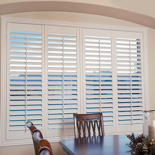 White Screen Wood Window Door Plantation Blinds Shades Outdoor