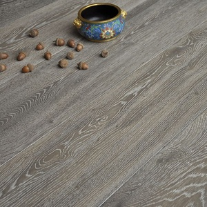 residential chemical reactive smoked european parquet white oak flooring