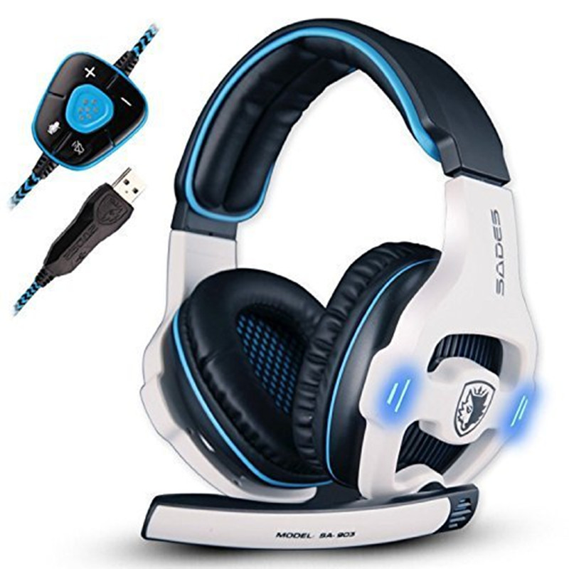 05711bdfbb6 Detail Feedback Questions about Sades SA 903 7.1 Surround Sound channel USB  Gaming Headset Wired Headphone with Mic Volume Control Noise Cancelling Mic  ...