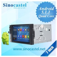 2 Din 7 inch Android 5.1.1 car pc Car dvd player with Bluetooth 3G GPS Wifi Radio