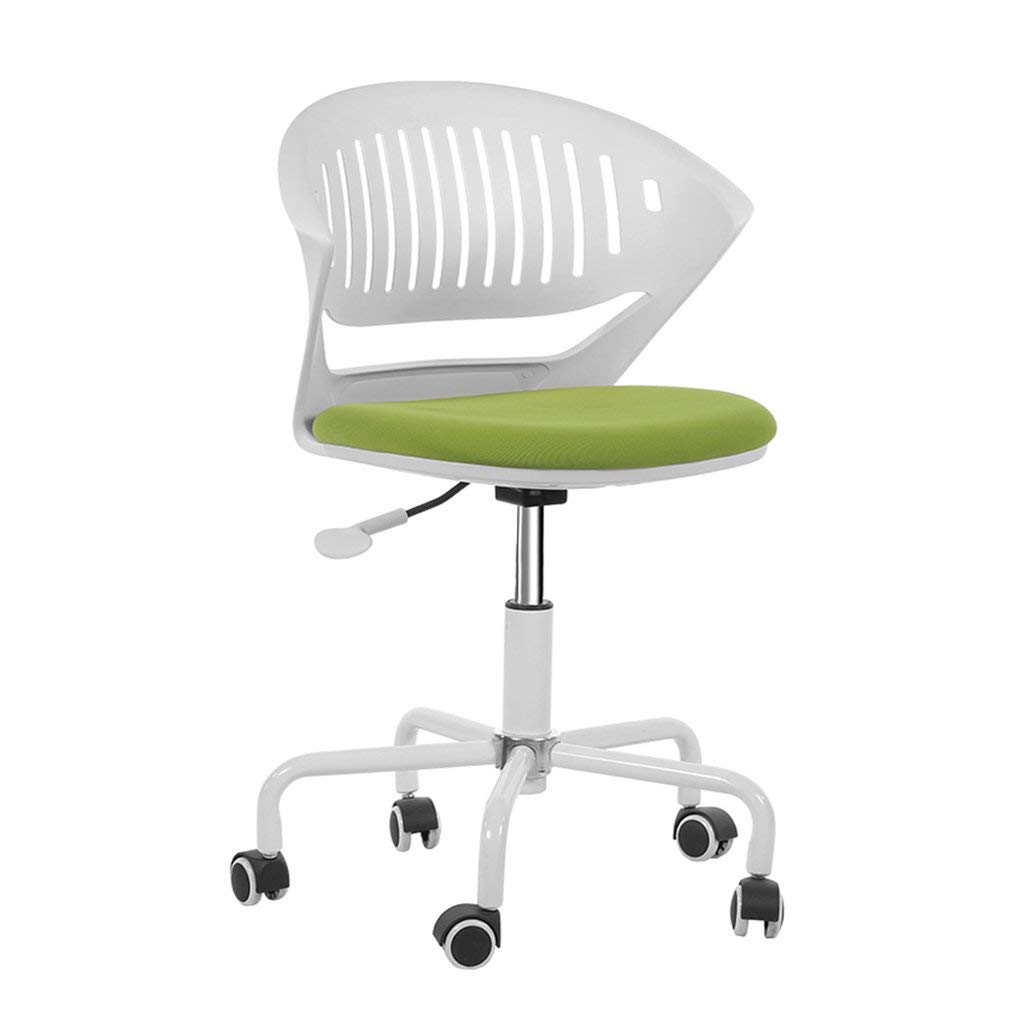Wei Hong Home Computer Chairs Office Chairs Home Lifts Chairs Study Chairs Study Chairs Barstools Small Space Saving Height 360° Rotation (Color : Green, Size : 535575cm)