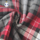 100% cotton yarn-dyed brushed twill flannel red plaid fabric