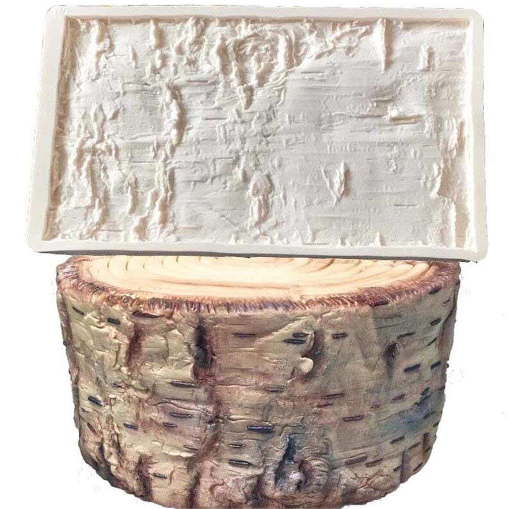 Tree Bark Silicone Mold Impression Mat Baking Mold, Cake Decorating Tool,Sugarcraft DIY Chocolate Candy Cupcake Fondant Jelly Candy Gumpaste Mould, Cake Broder Mould, Wedding Cake Brim Decoration Mold