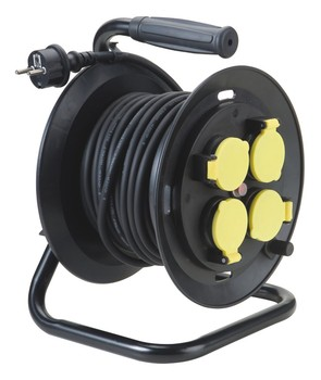 made in china cable puller with plug,socket and reel