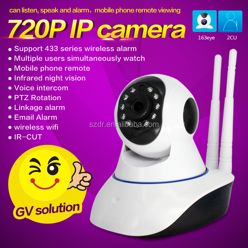 Wholesale Indoor Dome 1 MP 720P P2P PTZ WIFI IR IP Camera Security system
