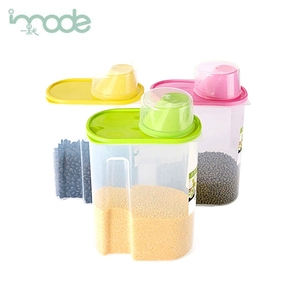 IMODE clear plastic kitchen container lockable food security storage box with lids