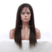 quality ponytail human hair U part lace front wig without bangs