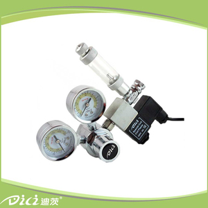 Cheap hot sale Solenoid valve gas pressure reducing mini regulator co2 system for planted aquarium