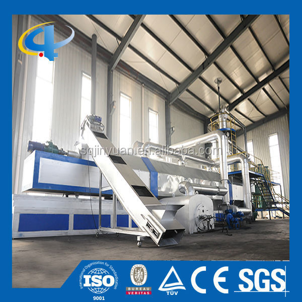 Waste Tyre/Rubber/Plastic Continuous Pyrolysis Plant with EU Standard