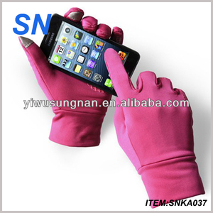 Chinese YiWu SN factory hot fashion cheap soft winter warm thin wholesale cheap Unisex promotional sports gloves