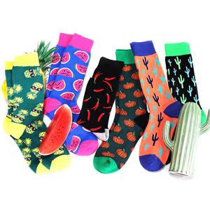 MOQ 10pairs high quality happy novelty cotton funny crew socks manufacturer men custom wholesale