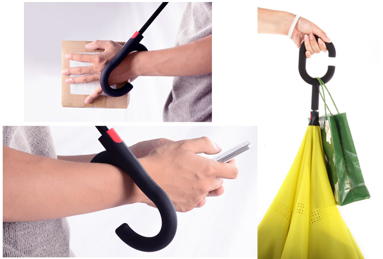 Special design upside-down reverse folding sun umbrella