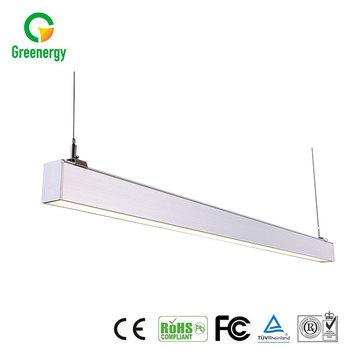 Bonne Qualité Plafond Suspendu Led Lumière Linéaire Luminaires Fluorescents Suspendus Lumière Pour Le Bureau Buy Remplacez L éclairage Fluorescent