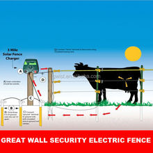 Built-in day/night sensor farm electric fence energizer/charger/ energiser solar powered farm electric fence for cattle,goat